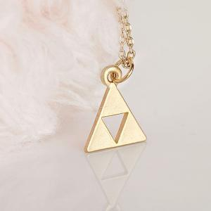 Gold Triforce Zelda Necklace, Geome..