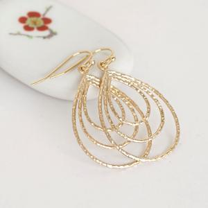 Large Triple Teardrop Hoop Charm Da..