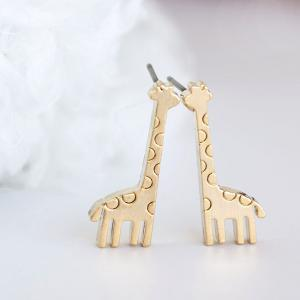 Gold Baby Giraffe Stud Earrings, An..