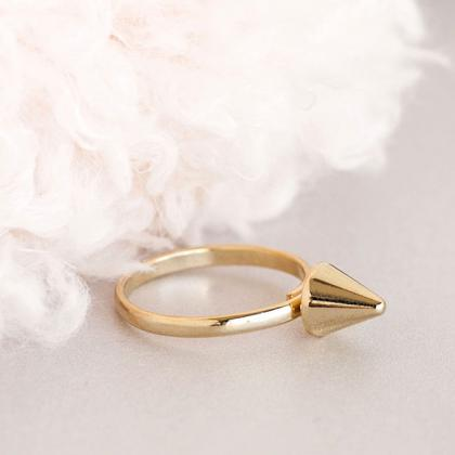 Minimal Spike Ring, Gold or Silver,..