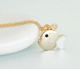 Gold Fish Necklace, ..