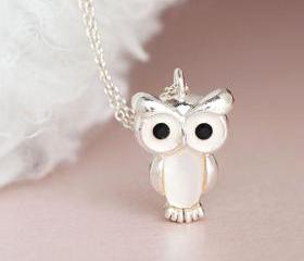 Silver Baby Owl Neck..