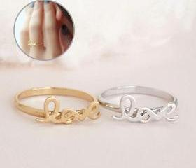 LOVE Ring, Gold or S..