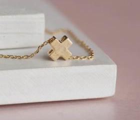 Gold Tiny Square Cro..