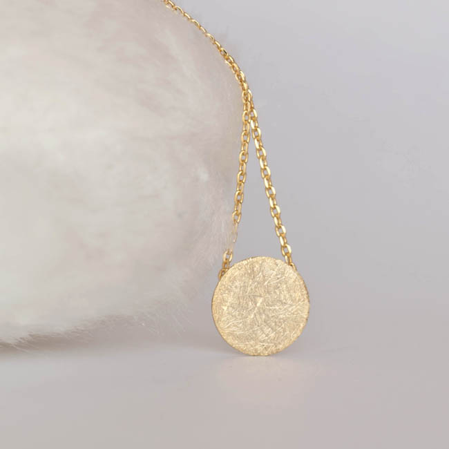 Gold disc necklace circle textured disc necklace minimalist on luulla gold disc necklace circle textured disc necklace minimalist aloadofball Choice Image