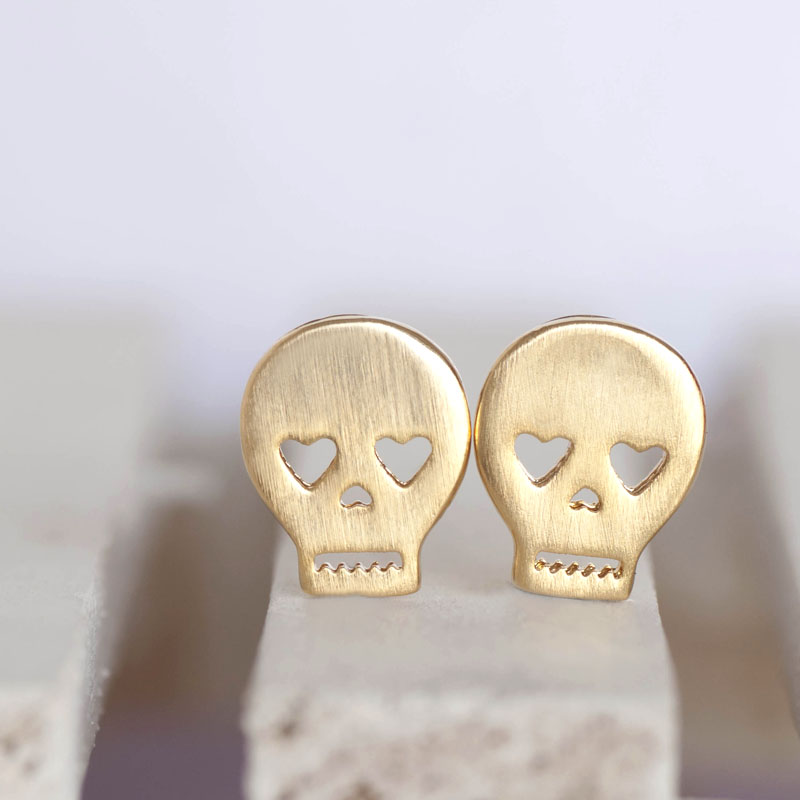 e deville earrings store top skull g julia melbourne tiny etal white stud gold